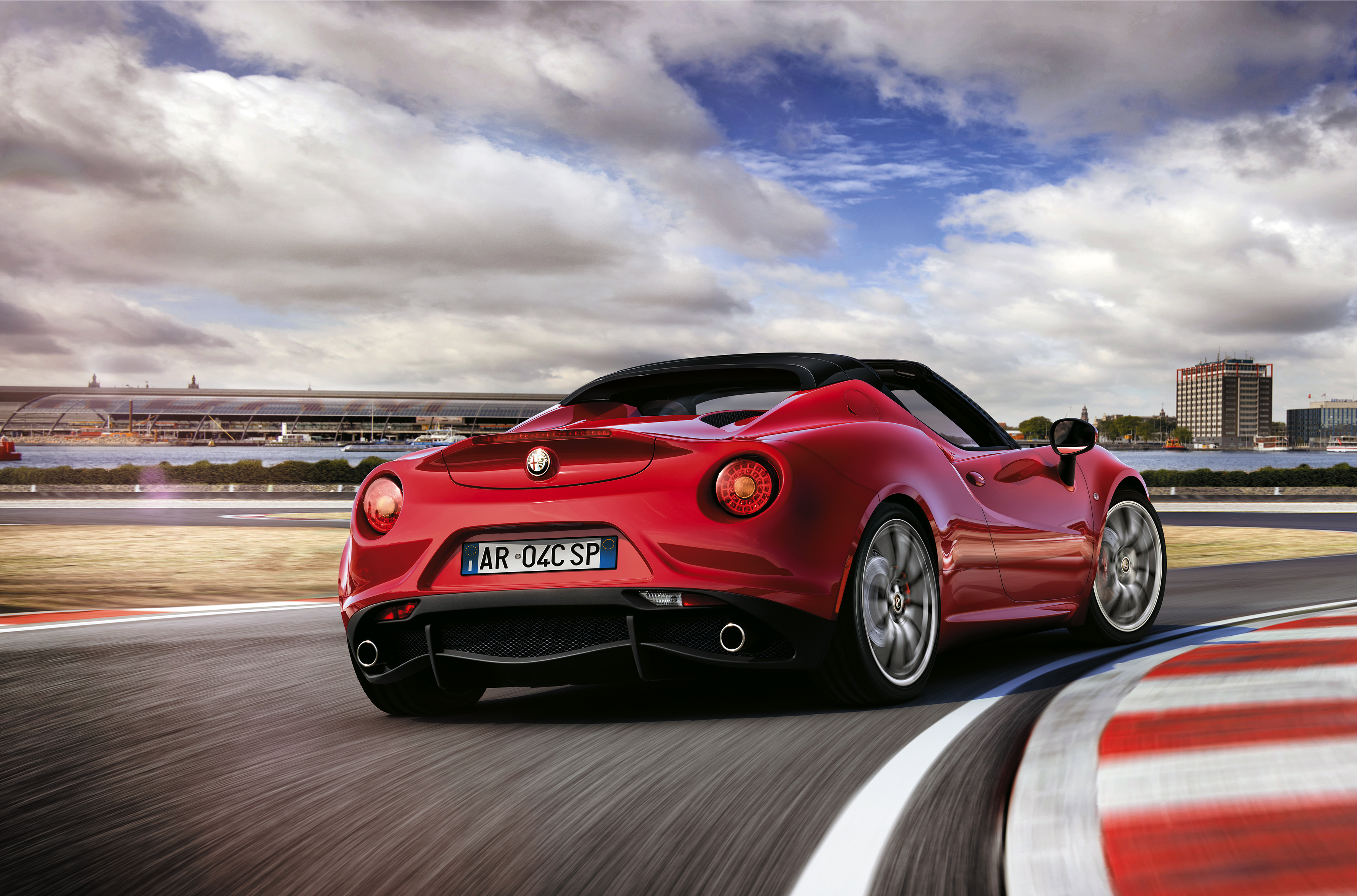 alfa romeo 4c spider makes european debut at geneva motor show motrface. Black Bedroom Furniture Sets. Home Design Ideas