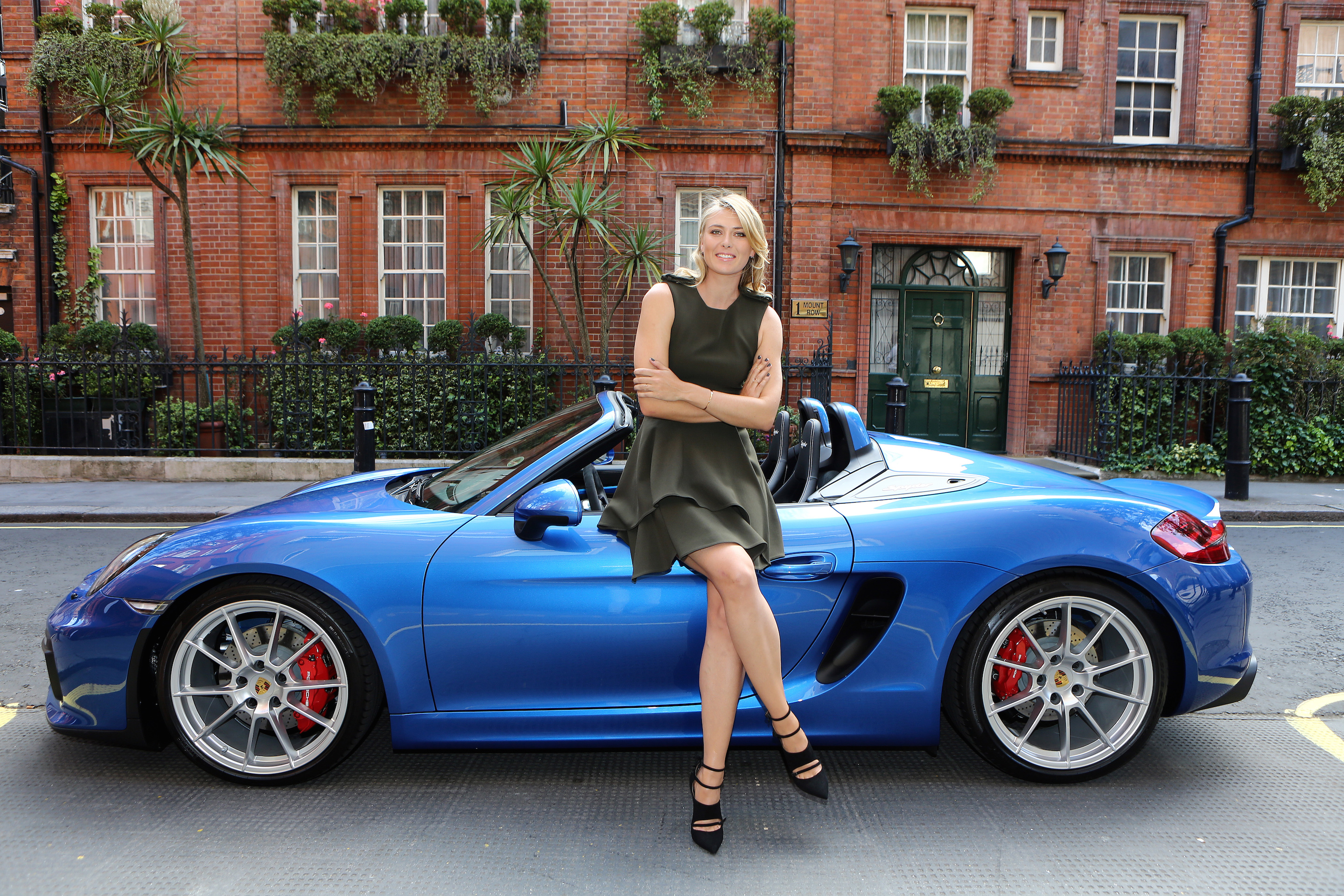 Tennis Superstar Maria Sharapova And The New Porsche Boxster Spyder Motrface