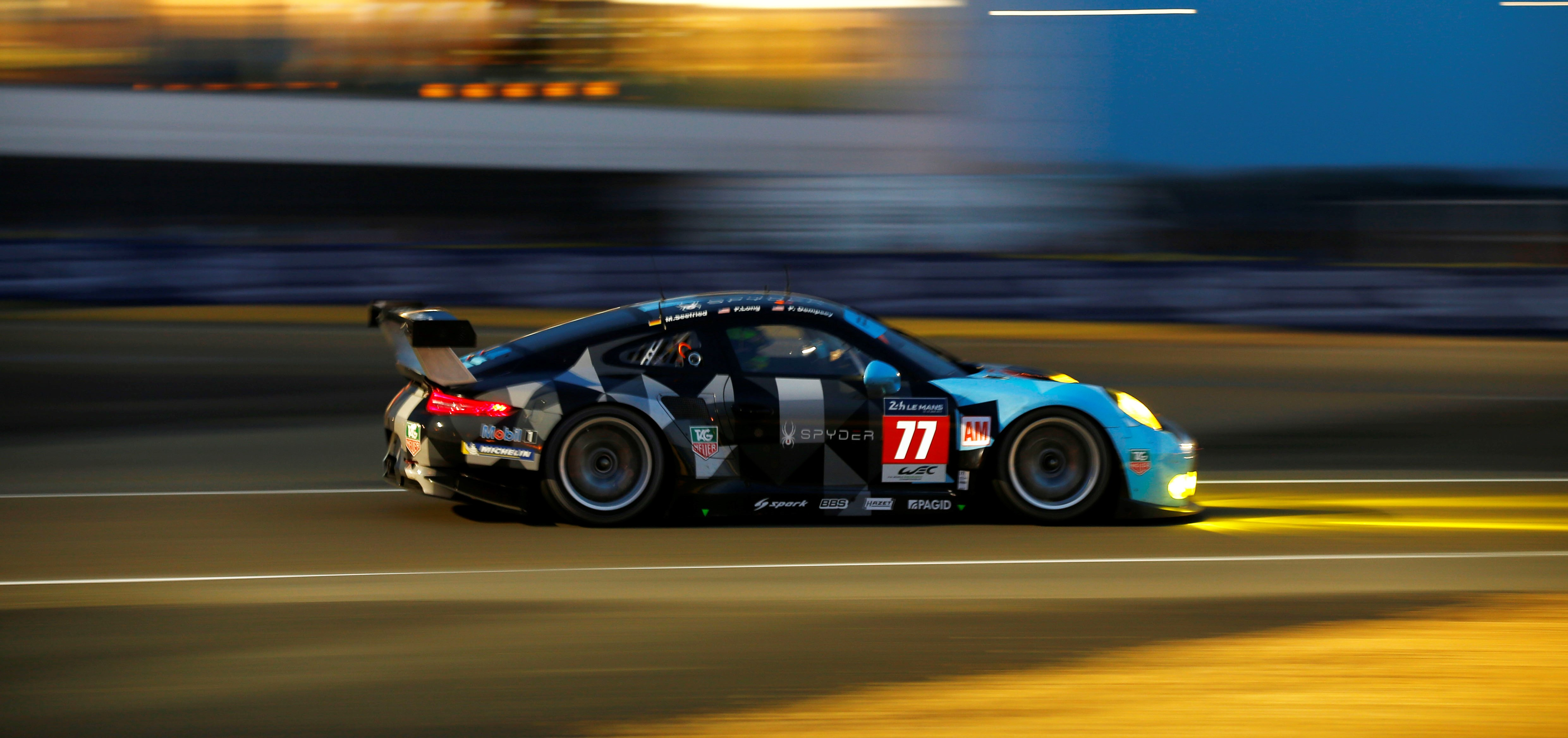 Patrick Dempsey On The Podium At 24 Hours Of Le Mans In