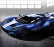 Liquid Blue Ford GT with Frozen White Stripe