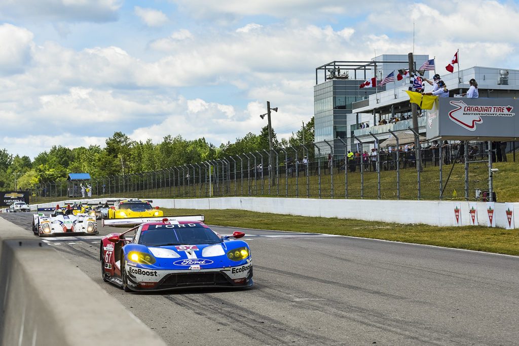 Checkered flag at Canadian Tire Motorsport Park