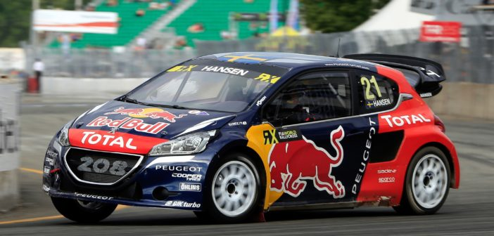 Timmy Hansen takes his PEUGEOT 208 WRX to 1st place in Canada